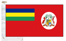 Mauritius Civil Red Ensign Courtesy Boat Flags (Roped and Toggled)